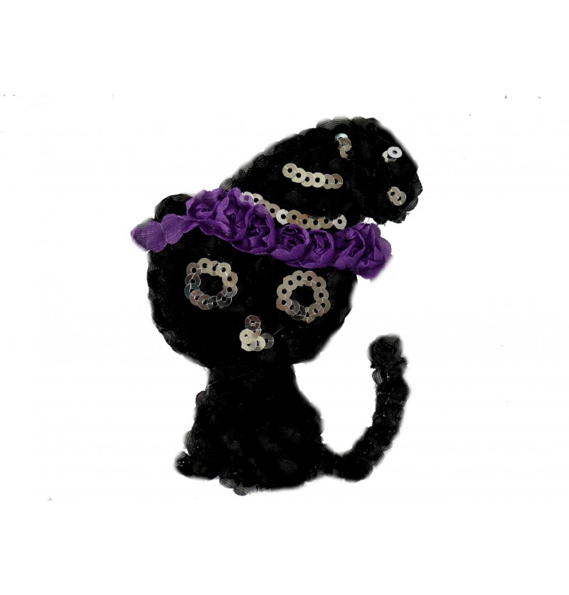 "4.5"" Halloween Kitty Shaped..."