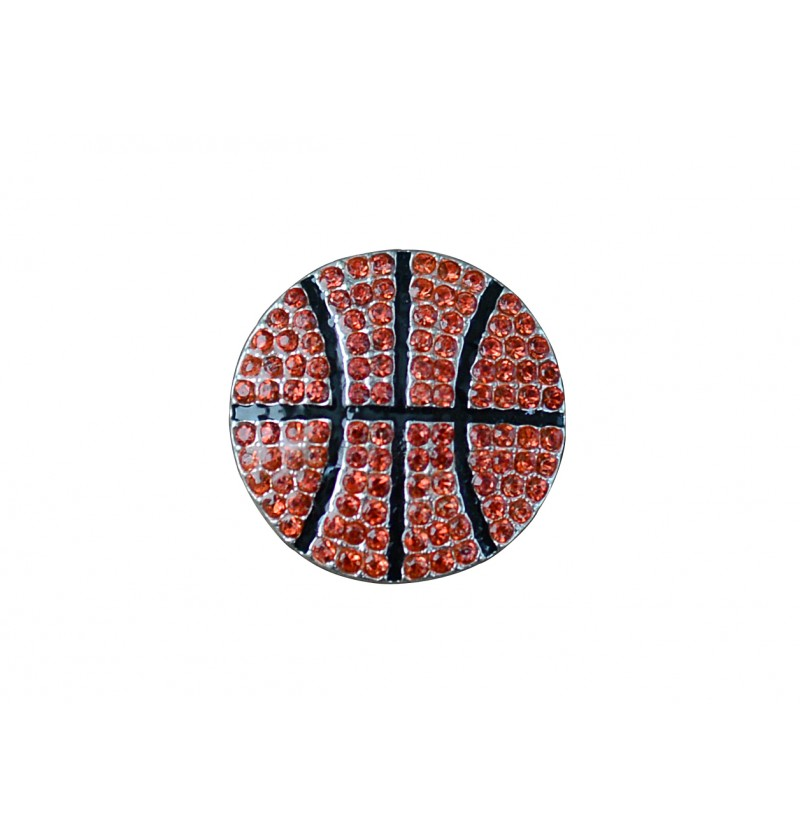 "0.75"" Basketball Flatback"