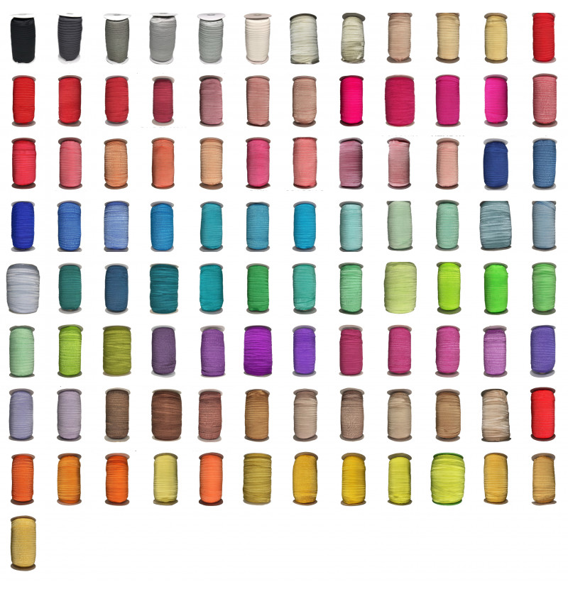 "Colored 5/8"" Fold Over Elastic"