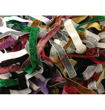 "Grab Bag of Glitter 5/8"" Fold Over Elastic (10 count)"