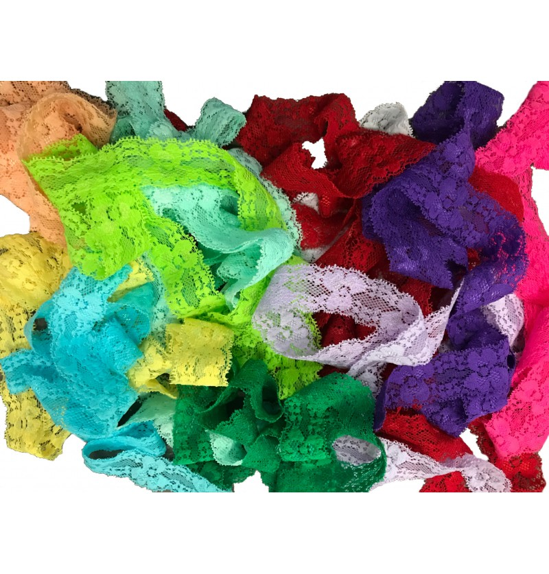 "Grab Bag of 1"" Lace Elastic"
