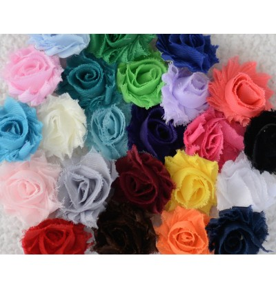 """Grab Bag of 1.5"""" Mini Shabby Flowers"""