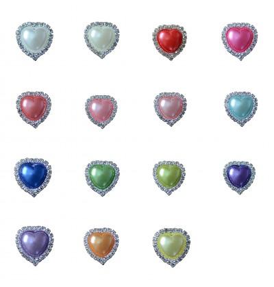 """0.75"""" Rhinestone Heart"""