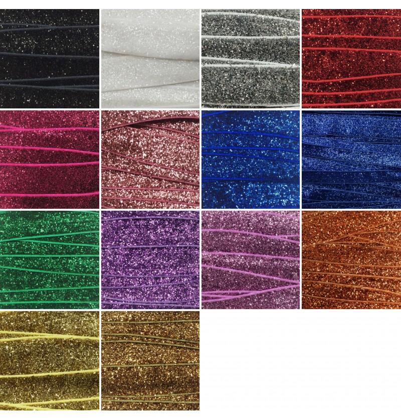 """Glitter 5/8"""" Fold Over Elastic"""