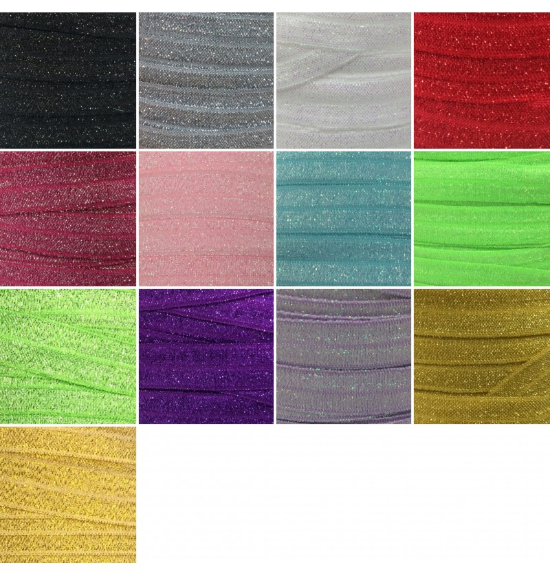 "Frosted 5/8"" Fold Over Elastic"