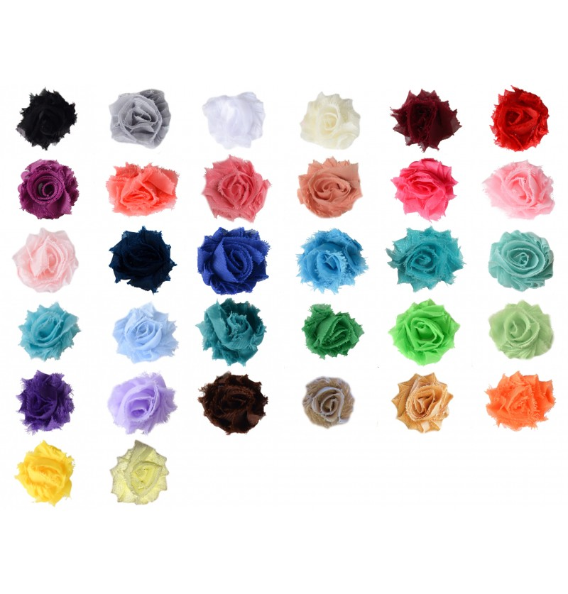"1.5"" Mini Shabby Flowers"