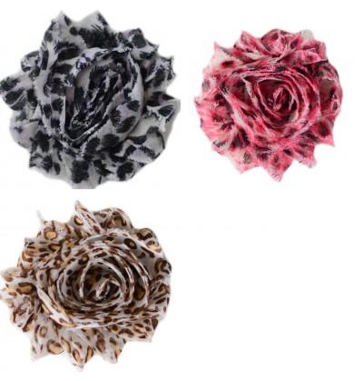 "2.5"" Animal Print Shabby Flowers"