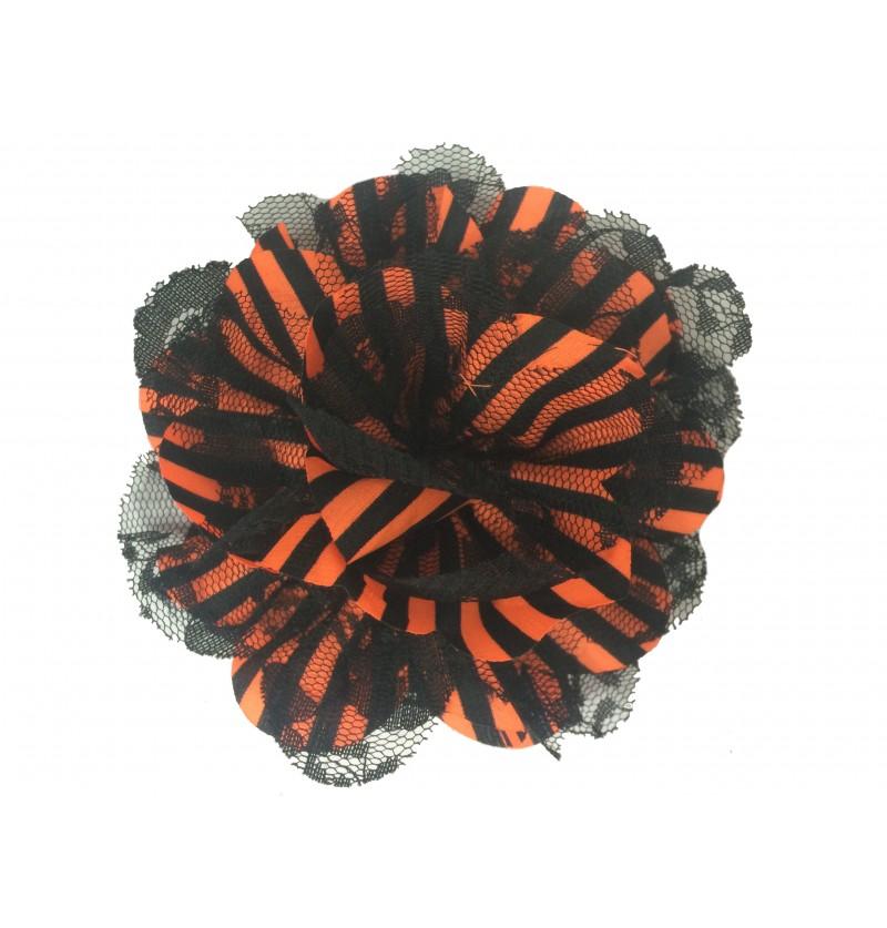 Orange & Black Stripes w/...