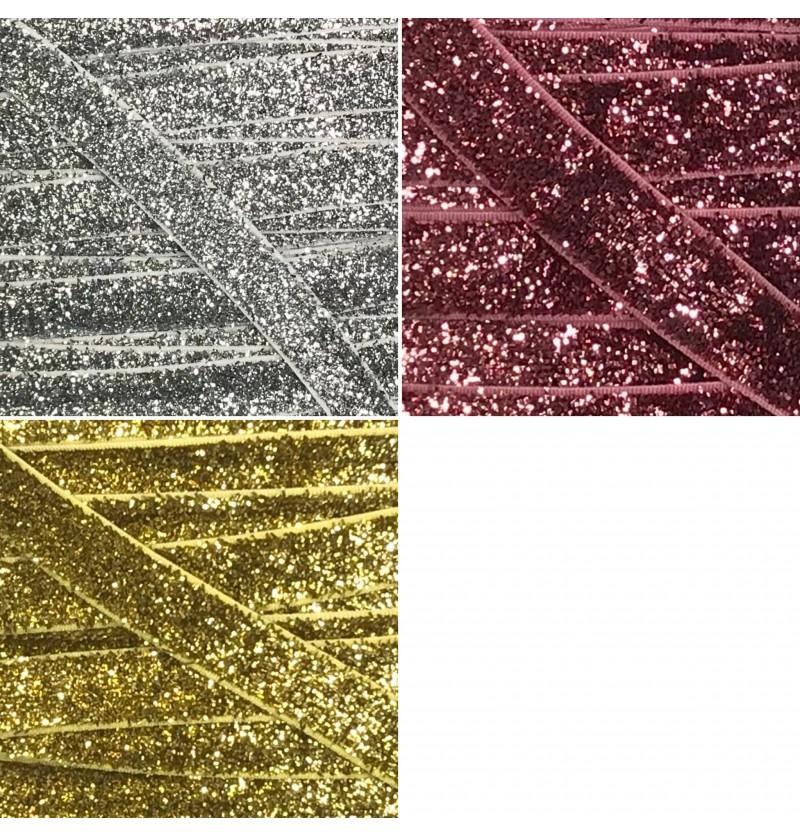 "Glitter 3/8"" Elastic"