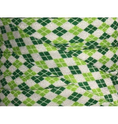 """Irish Argyle 5/8"""" Fold Over Elastic"""