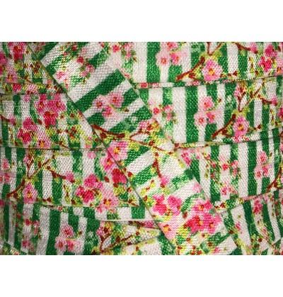 """Irish Gardens 5/8"""" Fold Over Elastic"""