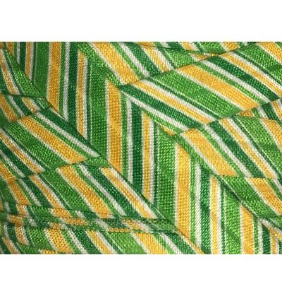 "Irish Stripes 5/8"" Fold Over Elastic"