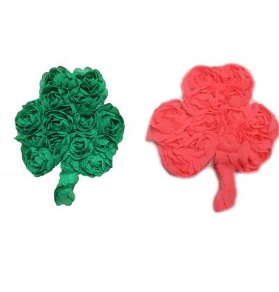 """3"""" Shamrock Shaped Shabby Flowers"""