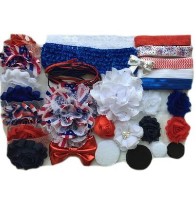 Mini Fourth of July Baby Shower Headband Kit