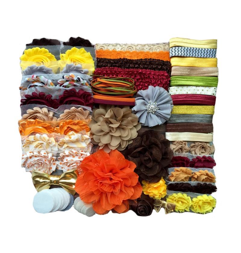 Fall Baby Shower Headband Kit
