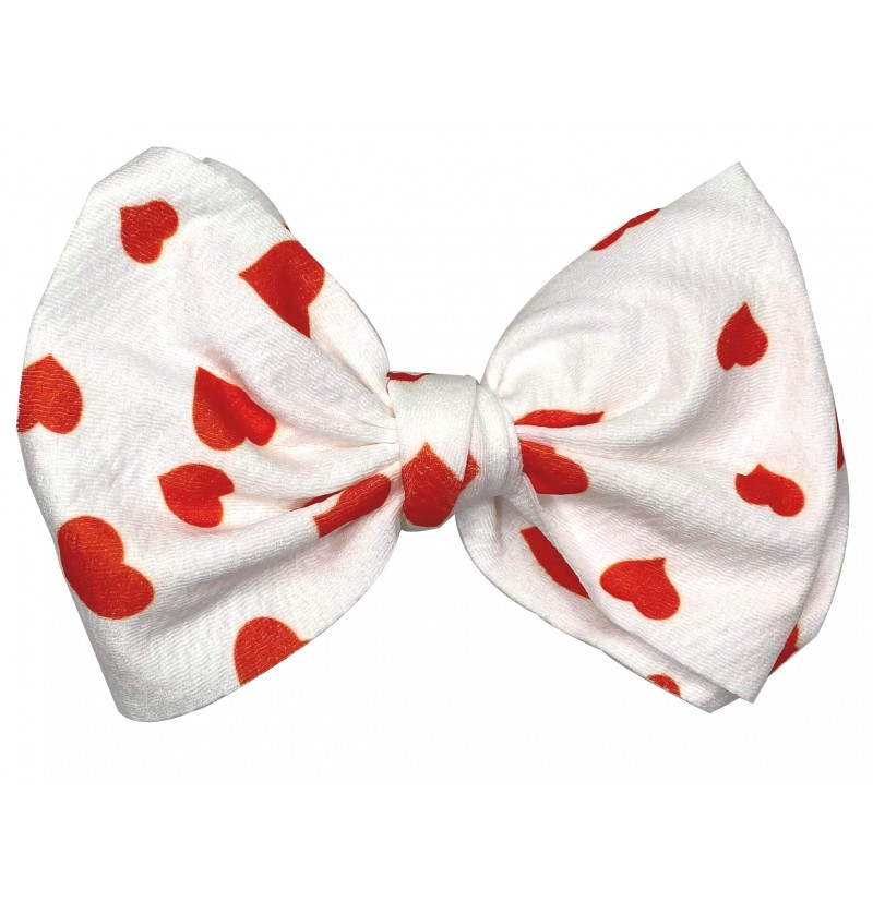 "4.5"" White with Red Hearts..."