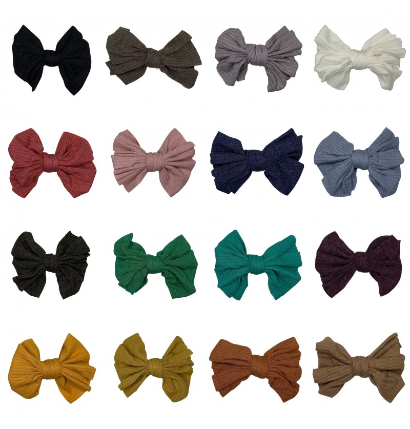 """4.5"""" Ribbed Messy Cotton Bow"""