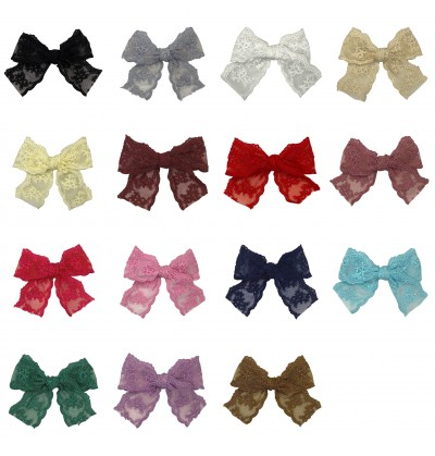 """3.5"""" Lace Bow"""