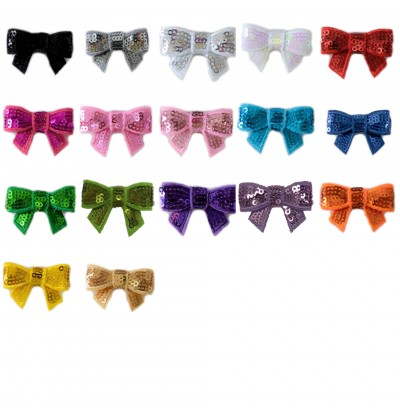 """1.5"""" Sequin Bow"""