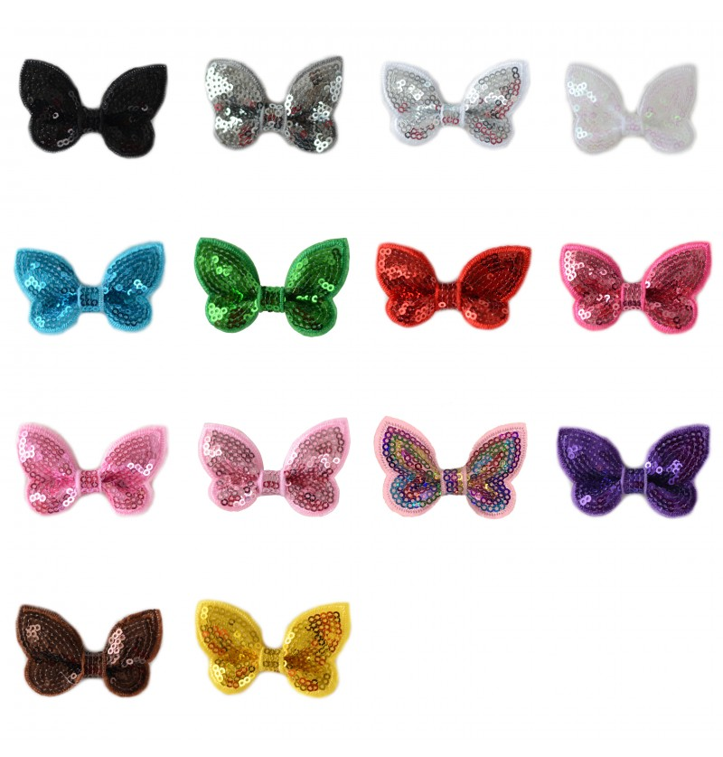 """2"""" Butterfly Sequin Bow"""