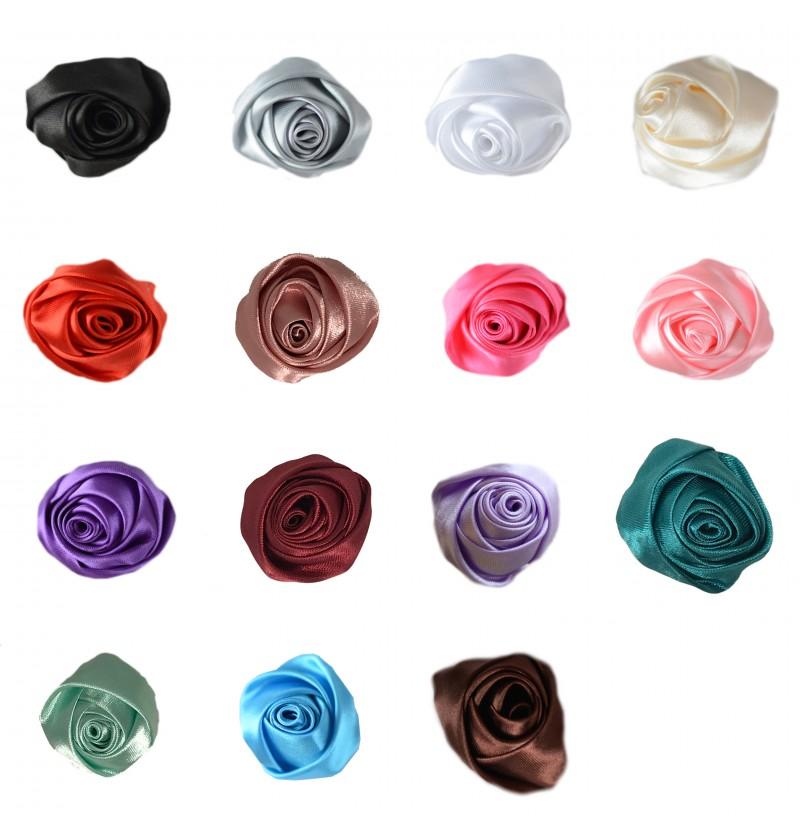 """2"""" Mini Satin Rose"""