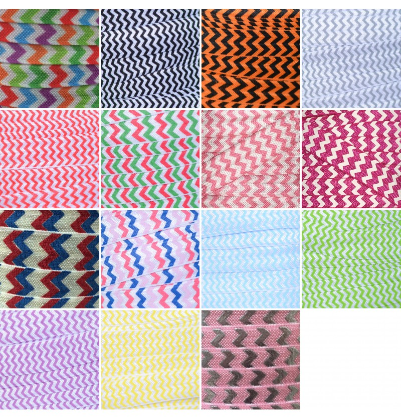 "Chevron 5/8"" Fold Over Elastic"