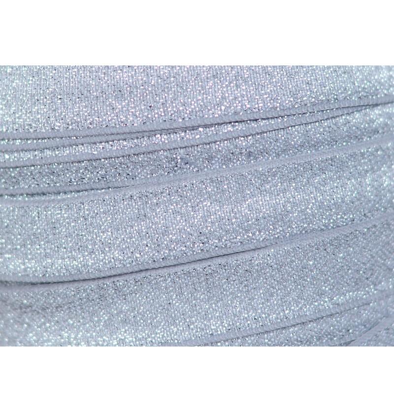 "Shimmery Silver 5/8"" Fold..."