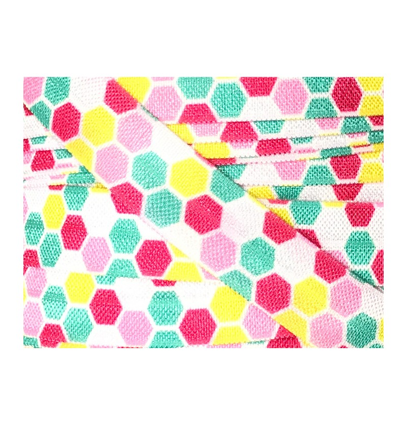 Hexagons Pink / Yellow /...