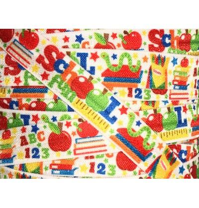 "School Fun 5/8"" Fold Over Elastic"