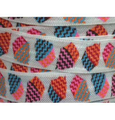 """Sparkling Cupcakes 5/8"""" Fold Over Elastic"""