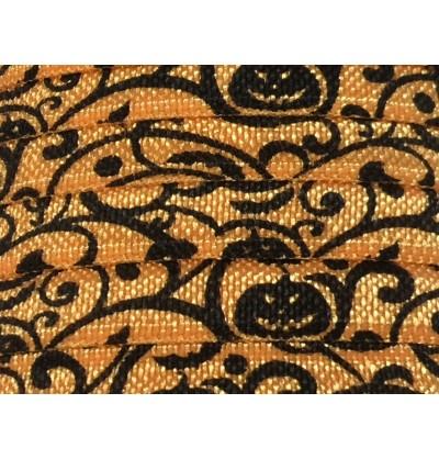 "Halloween Pumpkins 5/8"" Fold Over Elastic"