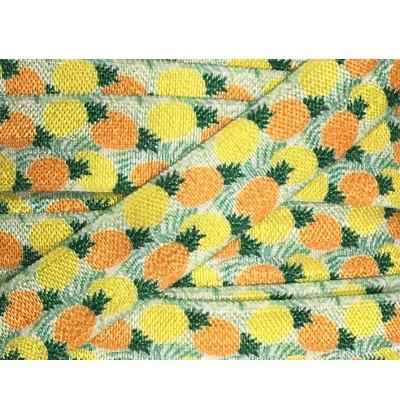 "Pineapple Prints 5/8"" Fold Over Elastic"