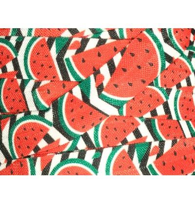 "Watermelon 5/8"" Fold Over Elastic"