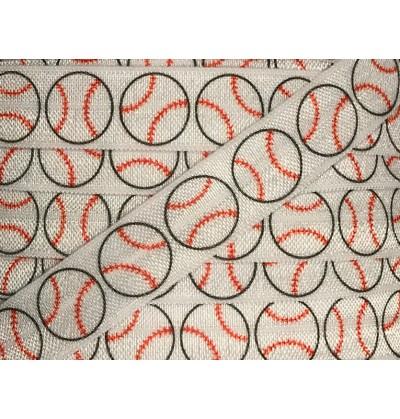 "Baseball 5/8"" Fold Over Elastic"