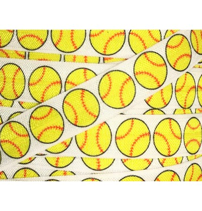 "Softball 5/8"" Fold Over Elastic"
