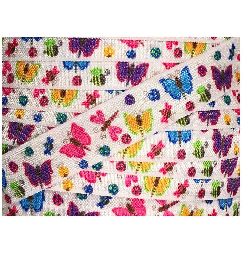 """Butterflies 5/8"""" Fold Over..."""