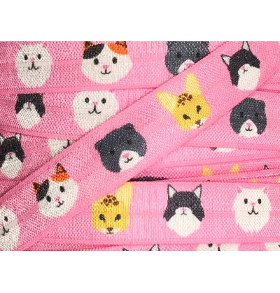 "Kitties 5/8"" Fold Over Elastic"