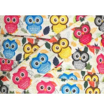"Owls 5/8"" Fold Over Elastic"