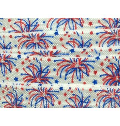 "Fireworks 5/8"" Fold Over Elastic"