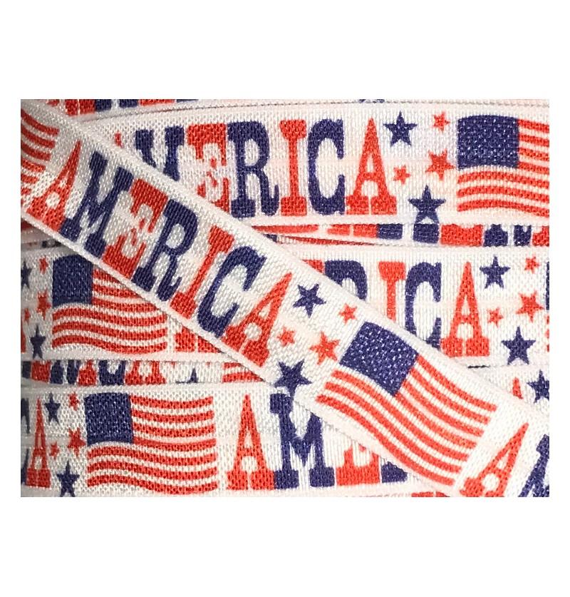 "America 5/8"" Fold Over Elastic"