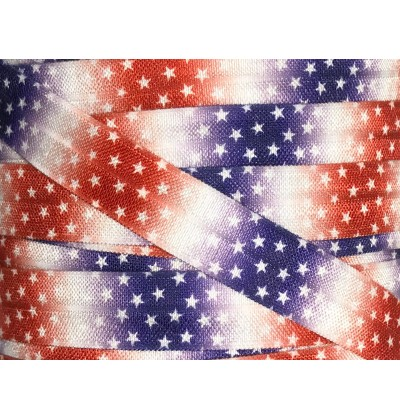 "Star Spangled 5/8"" Fold Over Elastic"