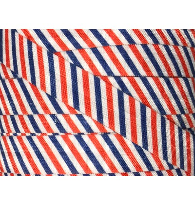 "Red, White & Blue Stripes 5/8"" Fold Over Elastic"