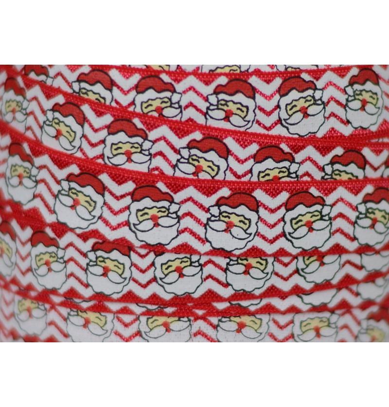 """Happy Santa 5/8"""" Fold Over..."""