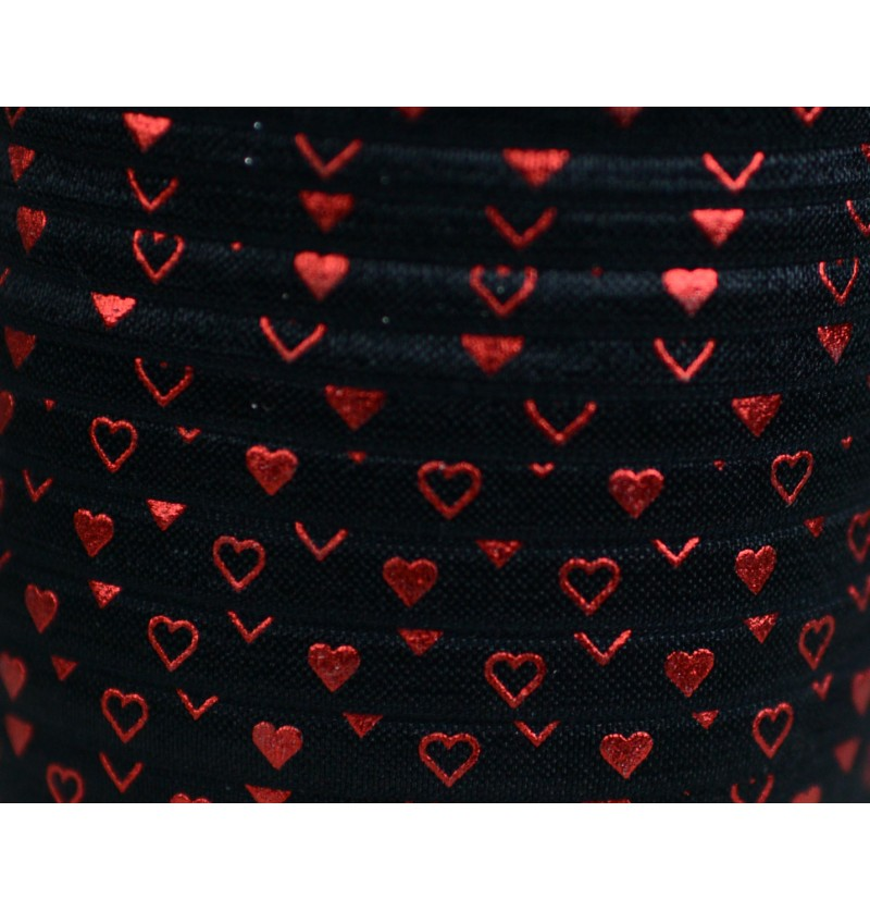Black w/ Red Foil Hearts...