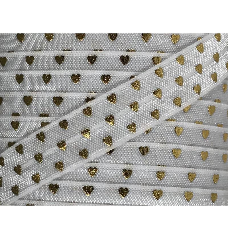 White w/ Gold Foil Hearts...
